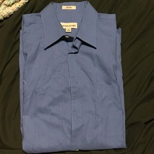 Wrinkle-free! Everyday blue dress shirt 32/33